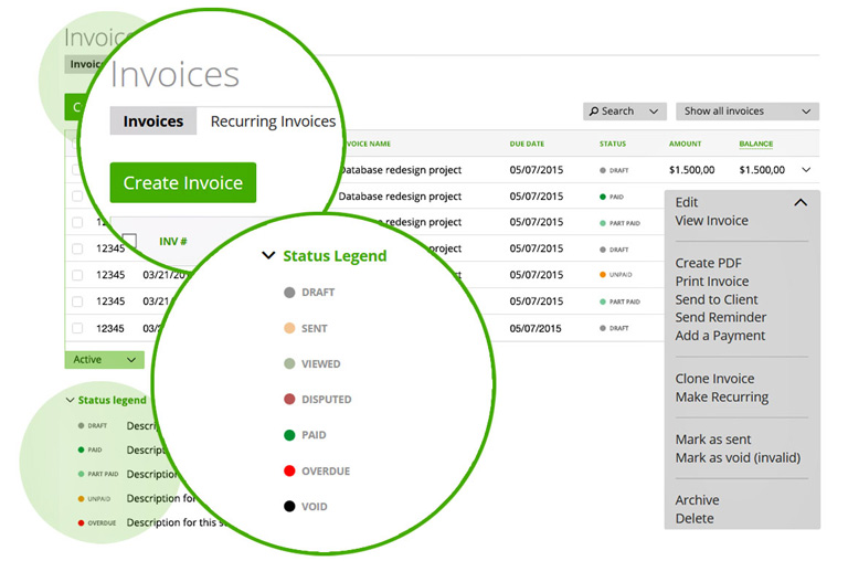 online invoicing with moneypenny invoice maker