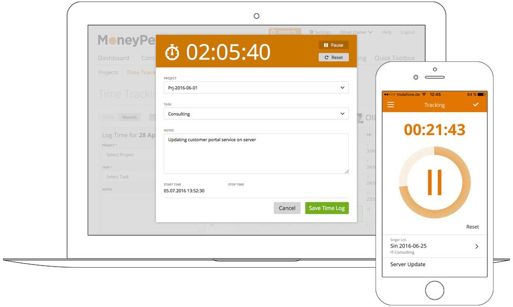 Mobile timesheet app