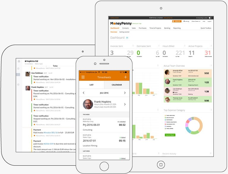 Track your business performance live | MoneyPenny