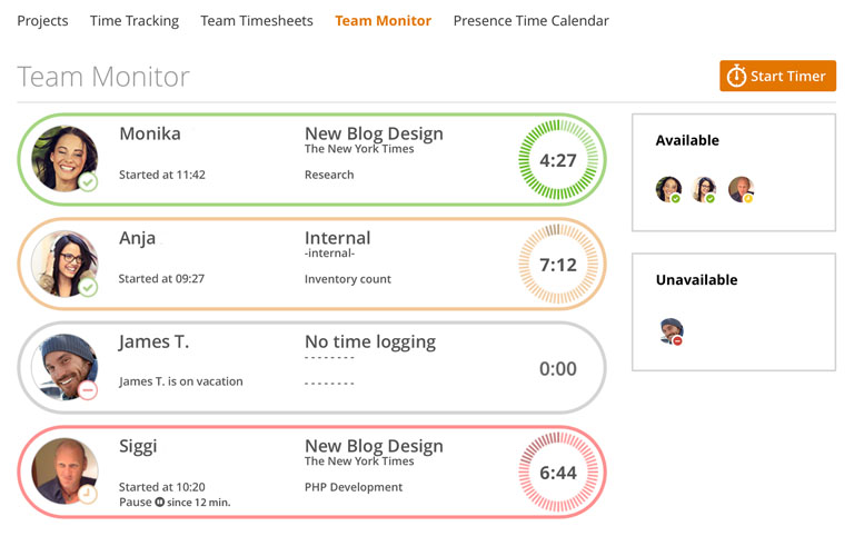 project time tracker easy smart project timer for teams