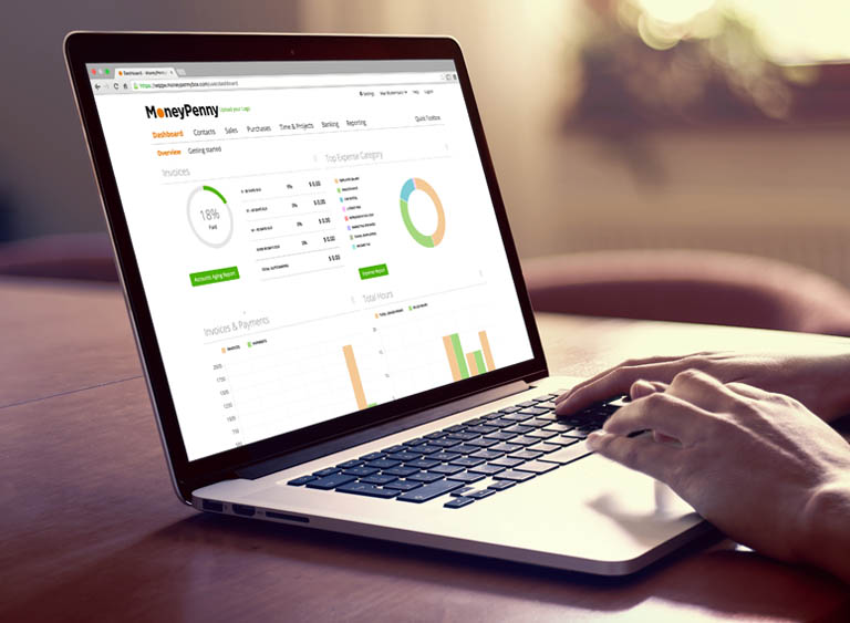 Time Tracking And Invoicing In Tool MoneyPenny - Bookkeeping and invoice software