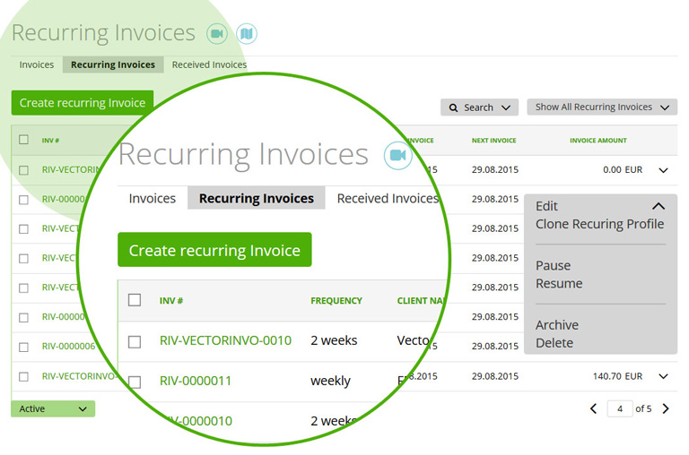 Recurring payments example